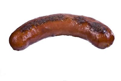 格子烤肉,香肠,德式香肠,饮食,水平画幅,无人,膳食,白色背景,背景分离,特写