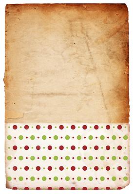 背景,圣诞包装纸,40-80年代风格复兴,垂直画幅,古董,艺术,纹理效果,风化的,过大的