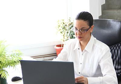 秘书,格子间,办公室,水平画幅,图像,经理,仅成年人,现代,技术,计算机