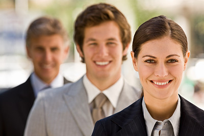 青年人,注视镜头,女商人,幸福,一排人,套装,商务关系,经理,男性,仅成年人