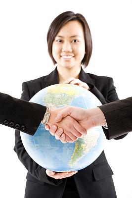 全球通讯,垂直画幅,美,智慧,美人,套装,白人,仅成年人,地球形,全球商务