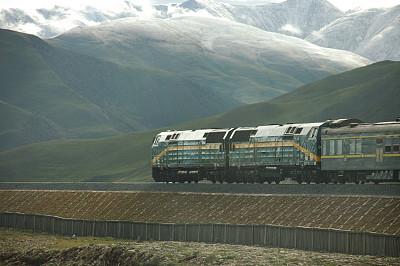 高原,火车,气候,水平画幅,山,雪,无人,喜马拉雅山脉,铁轨轨道,偏远的