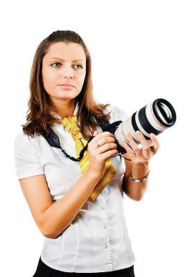 单反相机,拿着,青年女人,垂直画幅,美,新的,美人,白人,图像,仅成年人