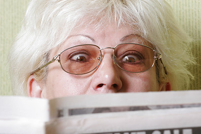 水平画幅,早晨,文章,白人,眼镜,看,成品,成年的