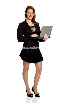 女商人,垂直画幅,正面视角,领导能力,笔记本电脑,电子记事本,图像,仅成年人,专业人员,信心