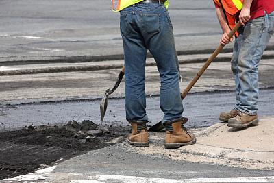路,道路工程,水平画幅,建筑工地,无人,建筑业,工业,沥青,铲子,彩色图片