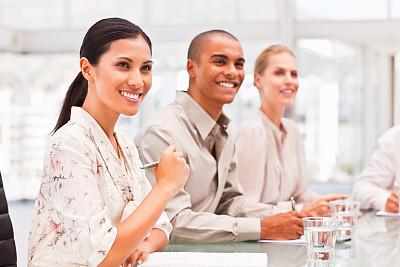 商务,会议,一排人,少量人群,商务关系,男商人,经理,男性,仅成年人,青年人