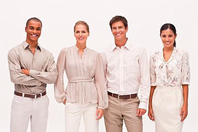 商务,注视镜头,一排人,少量人群,商务关系,男商人,经理,男性,仅成年人,青年人