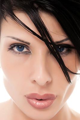 看,人的眼睛,垂直画幅,美,彩妆,注视镜头,美人,黑发,化妆用品,特写