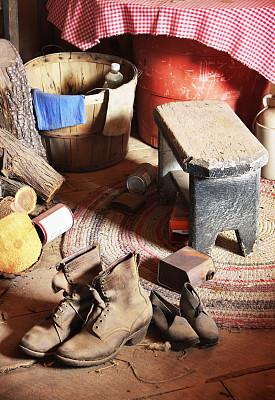 凌乱,过时的,装饰物,小木屋,杂物间,乡巴佬,20世纪风格,垂直画幅,古老的,古典式