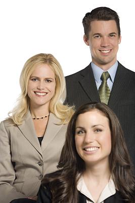 三个人,商务人士,垂直画幅,注视镜头,人群,套装,商务会议,30岁到34岁,白人,男商人