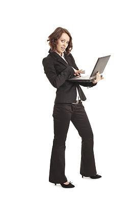 青年人,女人,垂直画幅,留白,仅成年人,人的眼睛,白色,技术,公司企业