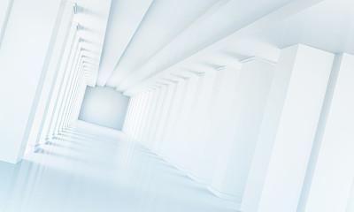 隧道,透视图,未来,水平画幅,形状,墙,无人,绘画插图,走廊,几何形状