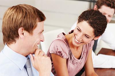 女人,全部,办公室,美,留白,水平画幅,美人,白人,男商人,男性