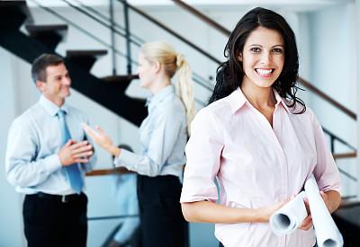 办公室,美,留白,水平画幅,注视镜头,工作场所,美人,白人,男商人,男性
