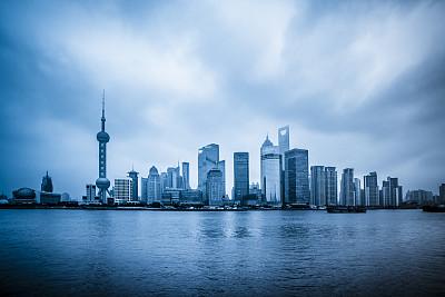 上海,东方明珠塔,黄浦江,黄浦区,浦东,天空,底片效果,夜晚,东亚,旅行者