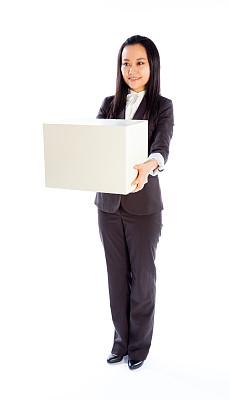 女商人,白色背景,分离着色,垂直画幅,留白,黑发,套装,仅成年人,现代
