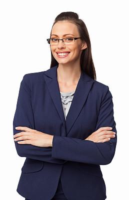女商人,分离着色,紧握双手,商务,专业人员,背景分离,肖像,一个人,正装,女人