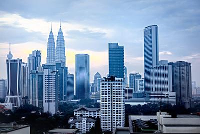 吉隆坡,吉隆坡塔,双峰塔,未来,水平画幅,无人,户外,马来西亚,都市风景,现代