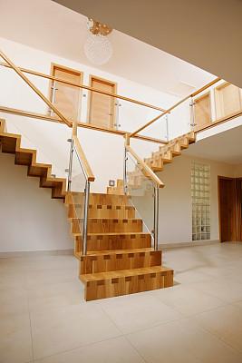 楼梯,门厅,橡树,垂直画幅,美,台阶,褐色,无人,巨大的,家庭生活