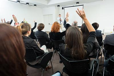 研究会,手,商务人士,提举,水平画幅,会议,人群,商务会议,白人,男商人