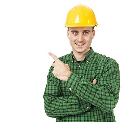 头盔,30到39岁,留白,建筑承包商,拉美人和西班牙裔人,安全帽,男性,工匠,建筑业,保护工作服