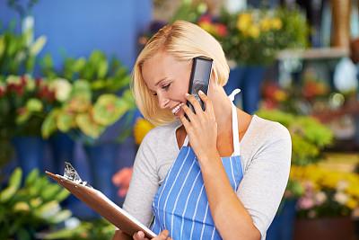 花卉商,商店,大量人群,营业标志,美,业主,水平画幅,顾客,美人,白人