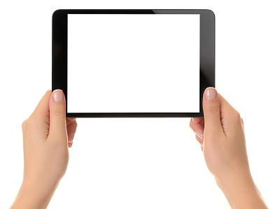 白色,显示器,拿着,平板电脑,留白,计算机软件,网上冲浪,想法,技术,公司企业