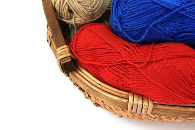 篮子,羊毛,钩针编织品,水平画幅,无人,手艺,背景分离,美术工艺,棉,业余爱好