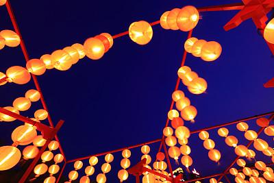 灯笼,红色,中秋节,中国元宵节,纸灯笼,留白,灵性,新的,夜晚,中国灯笼