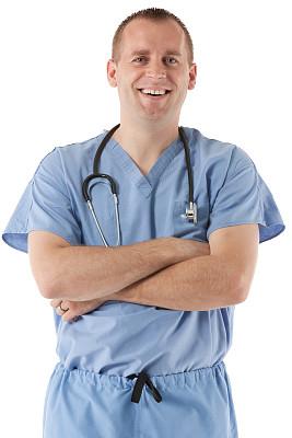 男性,听诊器,发际线后移,男护士,垂直画幅,正面视角,半身像,医疗工具,制服