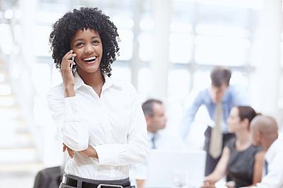 正下方视角,办公室,美,留白,水平画幅,美人,白人,非裔美国人,男商人,经理