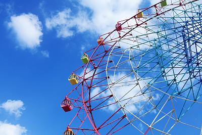 摩天轮,穿插表演,车轮,休闲活动,水平画幅,梁,户外,金属,自由,现代
