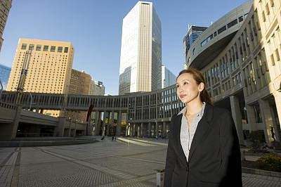 商务,肖像,水平画幅,套装,户外,图像,经理,仅成年人,日本人,都市风景
