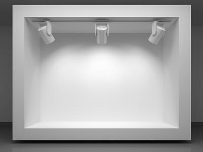 三维图形,聚光灯,书架,报亭,货亭,柜子,快餐车,架子