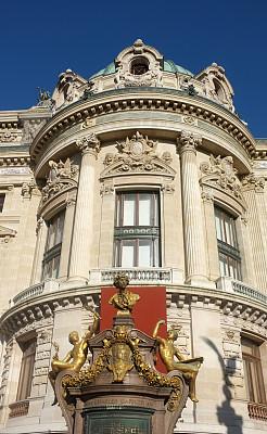 巴黎歌剧院,歌剧院,歌剧,垂直画幅,建筑,无人,阳台,特写,华丽的,国际著名景点