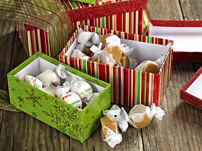 包装纸,自助餐,水平画幅,无人,糖果,盒子,圣诞礼物,甜食,礼物