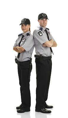 警卫人员,女人,男人,垂直画幅,正面视角,注视镜头,制服,白人,图像,安全