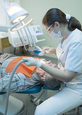 牙医,病人,口腔卫生,办公室,牙医椅,垂直画幅,选择对焦,面罩,椅子