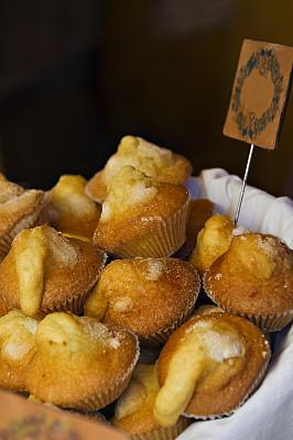 松饼,糖曲奇,烤饼,垂直画幅,选择对焦,百吉饼,褐色,无人,烘焙糕点,户外