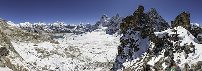 珠穆朗玛峰,山口,喜马拉雅山脉,khumbu glacier,朱拉兹峰,戈焦湖,戈焦山谷,努子峰,阿马达布朗峰,洛子峰