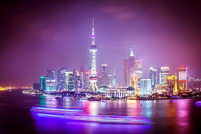 上海,黄浦江,东方明珠塔,外滩,黄浦区,浦东,天空,未来,新的,客船