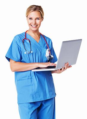 互联网,医学研究,垂直画幅,美,笔记本电脑,注视镜头,电子邮件,美人,白人