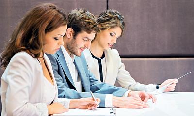 会议,人群,商务人士,会议中心,留白,半身像,套装,商务关系,男商人,文档