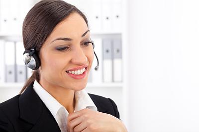 顾客,美,麦克风,耳麦,水平画幅,电话机,美人,秘书,白人,特写
