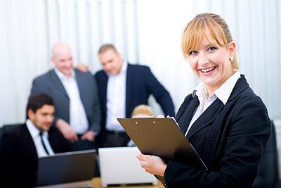 办公室,商务,团队,领导能力,笔记本电脑,水平画幅,注视镜头,会议,秘书,忙碌