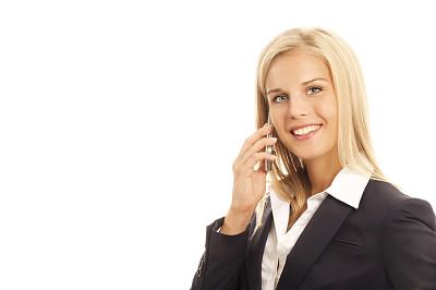 女商人,金色头发,手机,美,水平画幅,电话机,美人,套装,白人,特写