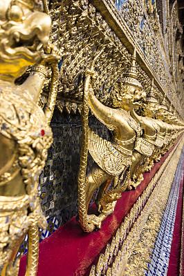 曼谷,垂直画幅,灵性,无人,艺术品,透视图,户外,班戈寇科省,金属,僧院