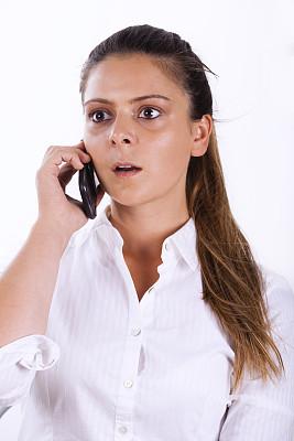 电话机,女人,惊奇,垂直画幅,美,美人,仅成年人,青年人,技术,成年的