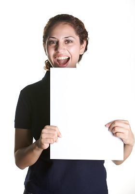 白板,拿着,垂直画幅,留白,黑发,仅成年人,工业,青年人,信心,布告